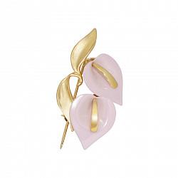 Золотая брошь с керамикой Арабель 000016222