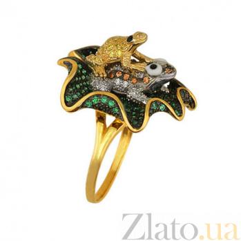 Кольцо из желтого золота Летняя фантазия с фианитами VLT--ТТ1073-1