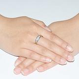 Золотое кольцо с цирконием Виктория