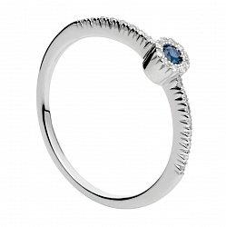 Золотое кольцо с сапфиром и бриллиантами Алисия