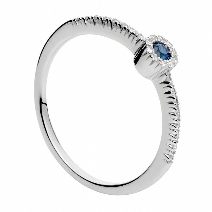 Золотое кольцо с сапфиром и бриллиантами Алисия 000030381