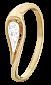 Серебряное кольцо с фианитами Альфия 000025630