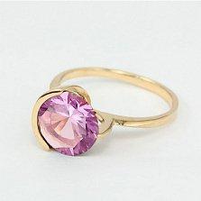 Золотое кольцо с аметистом Клэр