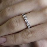 Серебряное кольцо Дарина с фианитами