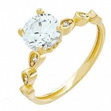 Золотое кольцо Верна с кристаллами Swarovski