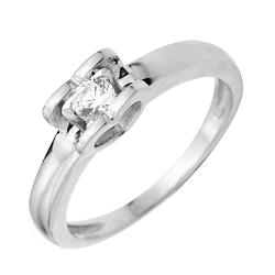 Помолвочное кольцо из белого золота с фианитом 000130994
