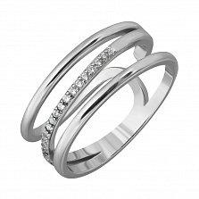 Серебряное кольцо Сфера с фианитами