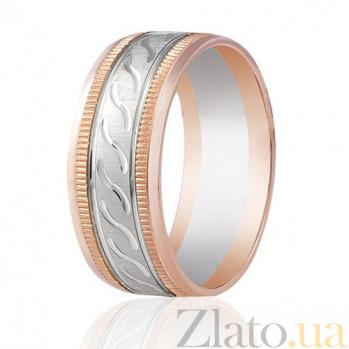 Золотое обручальное кольцо Волна любви 000001660