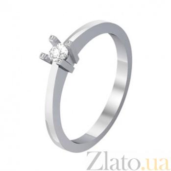 Золотое кольцо с бриллиантом Электра KBL--К1067/бел/брил