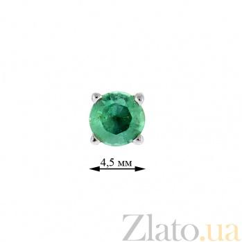 Серебряные серьги-пуссеты с изумрудами Агнеса ZMX--EE-6633-Ag_K