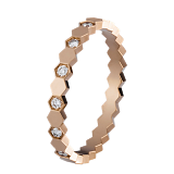 Кольцо в розовом золоте с бриллиантами Bee
