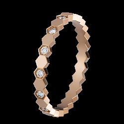Кольцо в розовом золоте с бриллиантами Bee 000011964