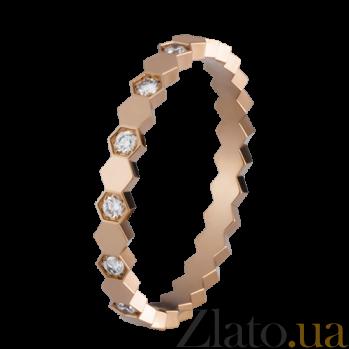 Кольцо в розовом золоте с бриллиантами Bee R-Ch/Bee-R-diam