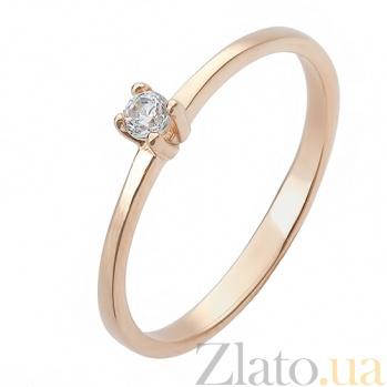 Золотое кольцо Невеста c цирконием 11984