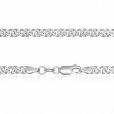 Серебряная цепь с уплотненными звеньями Александрия