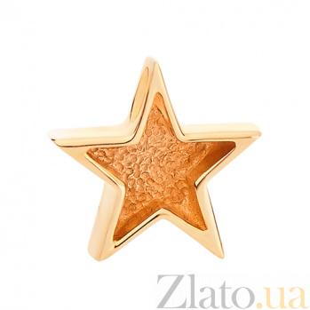 Золотой подвес Счастливая звезда, матовая SVA-3001198101мат/Без вставки