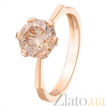 Золотое кольцо с бриллиантом цвета шампань Noa R 0389