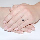 Золотое кольцо с бриллиантом Erma