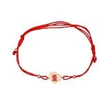 Шелковый браслет Малышка в красном золоте с эмалью