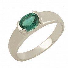 Серебряное кольцо Жерардина с синтезированным изумрудом
