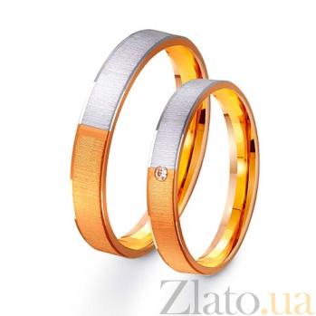 Золотое обручальное кольцо Сияние влюбленной души TRF--411337