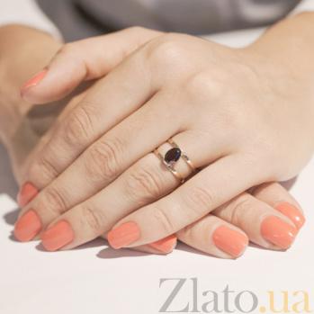 Кольцо из красного золота Альбина с гранатом SVA--1190837101/Гранат