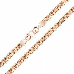Серебряная позолоченная цепочка Тольятти в плетении бисмарк ручеек, 2,5мм