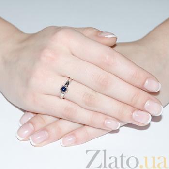 Золотое кольцо Лареина в белом цвете с сапфиром SVA--1190492202/Сапфир