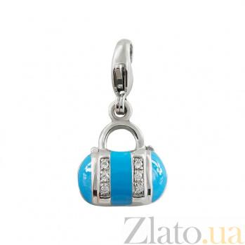 Серебряный подвес с цирконием Сумочка 3П544-0015