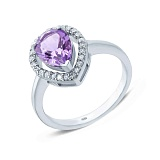 Серебряное кольцо с аметистом Фелисия