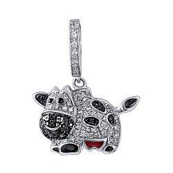 Серебряная подвеска Собака с фианитами 000140402