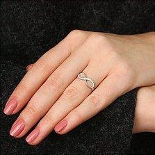 Золотое кольцо Бесконечность с бриллиантами