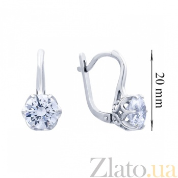 Серебряные серьги Рита AUR--72757б/a
