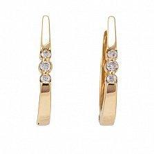 Золотые серьги с бриллиантами Джиневра