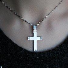 Серебряный крест с бриллиантами Смирение