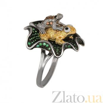 Золотое кольцо Летняя фантазия с фианитами VLT--ТТ1073
