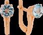 Сережки из золота с голубыми топазами Деа VLN--113-1679-1