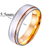 Золотое обручальное кольцо Happy Life
