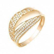 Золотое кольцо Ливанда с усыпкой фианитов