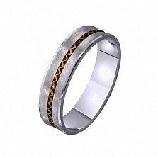 Золотое обручальное кольцо Счастливое мгновение
