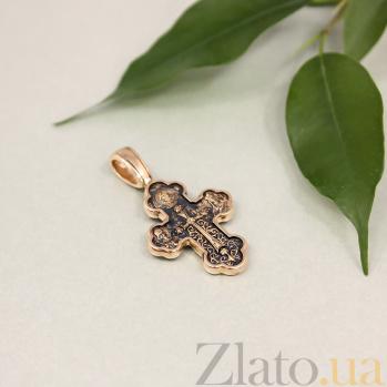 Золотой крест с чернением Защитники с небес 000020849