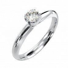 Кольцо из белого золота с бриллиантом Джулия