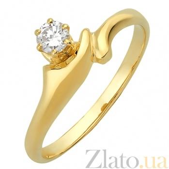 Золотое помолвочное кольцо с бриллиантом Мэринелла R 0844