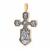 Серебряный крест Сонм с чернением и позолотой