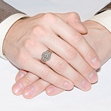 Золотой перстень с чернением Ладинец
