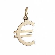 Золотой подвес Знак Евро