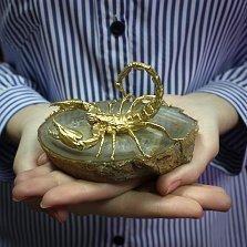 Серебряная статуэтка с позолотой Скорпион