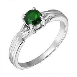 Серебряное кольцо с изумрудом 000132336