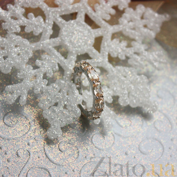 Серебряное кольцо Мари с шампаневыми фианитами 000059755