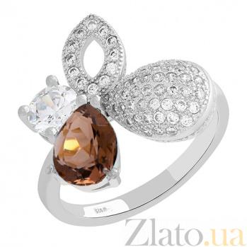 Серебряное кольцо с кварцем и фианитами Клодетта 3К731-0058